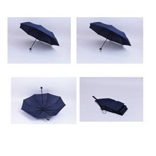 3 fold mini umbrella with the stars printing art and clean 190t pongee
