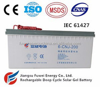 12V 200AH Rechargeable Deep Cycle Gel Battery (CNJ)