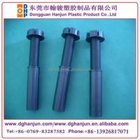 Adjustable plastic kitchen cabinet leg withe clip