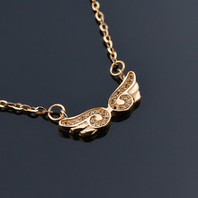Laydy's jewelry!Angel's Wings gold necklace designs !gold necklace and pendant necklace!