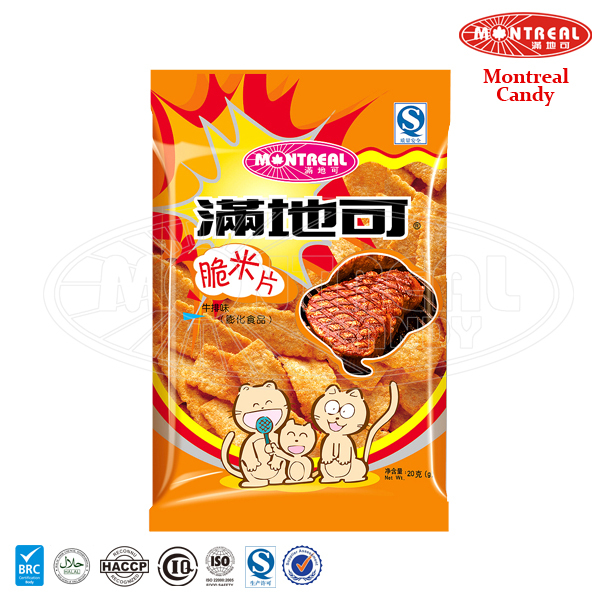 Steak flavoured rice crisp