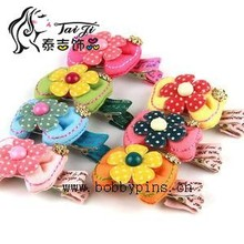 Baby girls flower hair jewelry hair clip