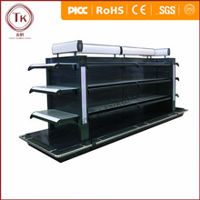 3layer black gongola racks for shop with light box