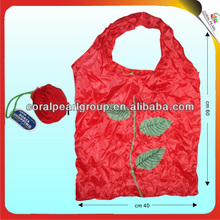 Promotional Rose Nylon Foldable Shopping Bag