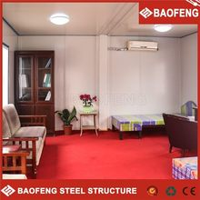 2015 high quality prefab living solid steel structure container