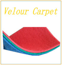 polyester needle punch velour carpet for wedding,cosino,show, car ,hotel and other places