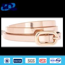 2015 Fashion Ladies Pinky Dressy PU Belts