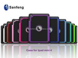 Eco-friendly hard TPU case for ipad mini 4 tablet;multi-colors for ipad mini 4 rugged football case new products