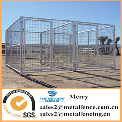 6'X12' outdoor galvanized steel tubing dog kennel with 2 dog runs