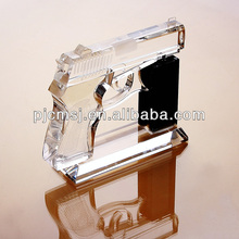 Beautiful gun model with base for gifts and decoration favors