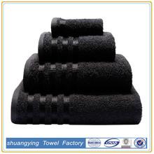 Trade Assurance custom 100% cotton terry bath towel set dark color