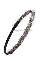 H798-013 wome classic hair products elastic braided hair bands fashion hair accessory