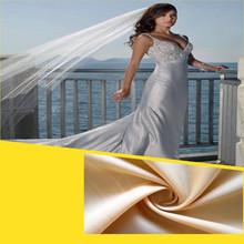 high quality colorful satin wedding dress fabric