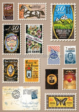 Customize High Quality Stamps Vinyl Stickers