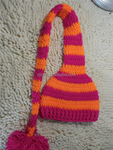 Newest handmade 100% cotton crochet knitted high quality baby striped hat crochet pattern