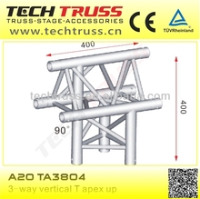 A20-TA3804 length 400mm 3-way vertical T apex up, roof truss design corner for setting up truss system
