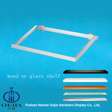 Retail store, exhibition hall metal brackets for wood , glass