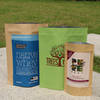 Custom Kraft beef jerky packaging bag with ziplock//tear notch/kraft aluminum foil packaging bag for beef jerky