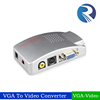 VGA to AV Composite RCA S-Video Convertor Box Adaptor for Computer Laptop PC MAC Monitor-Silver