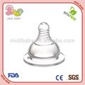 Bap de silicona transparente gratis biberón pezones, de ancho calibre de bebé de silicona pezones
