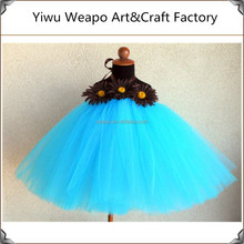 2015 High quality Desert Bloom Turquoise Girls Ballet Girls Tutu Dress TWP-161