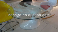 Y-196 design table fiberglass home furniture
