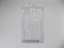 Hot Sale Large stock Thick Clear PVC Silk screen printing eco friendly Hanger bag