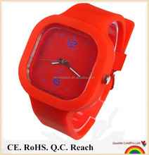 5ATM Waterproof colorful jelly watch with customs logo interchangeable watches