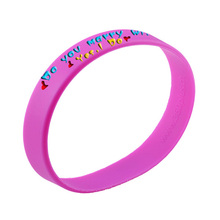 silicone bracelet printer,custom shape rubber bracelet