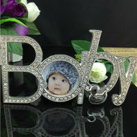 Factory wholesale picture frame Metal letter photo frame lovely frames photo for baby gift baby picture home decor