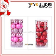 Dusting XMAS Decoration hanging 6cm plastic christmas ball 20per box