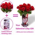 eg52 nuevo diseño a prueba de agua de papel plegable jarrón de flores para el día de san valentín