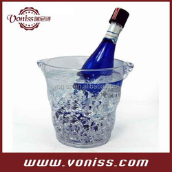 Acrylic Transparent Wine Cooler Ice Bucket Chilling Beer cooler 5L