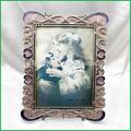 de color rosa de zinc de la aleación de metal marco de fotos para la decoración del hogar