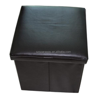 High quality Luxury Folding leather ottomans for home decor
