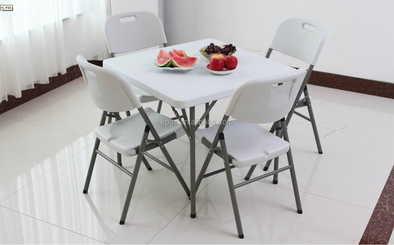 Modern Design Folding Cafeteria Table Chair Set Folding