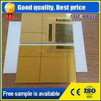 mirror aluminum diamond plate /high reflection bright silver gold color mirror coating aluminum