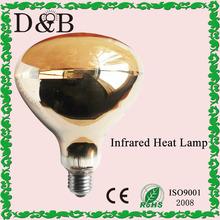 R40 pintado de oro- vidrio duro de calor infrarrojo de la lámpara