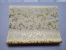 New design iron gold/silver pattern wrapping felt, nonwoven roll