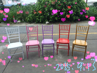 Factory direct sale metallic iron bamboo chair Hotel ban chair