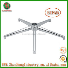2015 hot selling Polishing or Chrome metal chair base/5-star chair base/Five star metal chair leg
