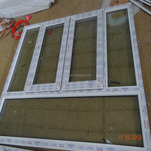 two way double tempered glass crank open window