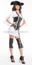 Adult Mens Ladies Buccaneer Caribbean Ship Mate Pirate Fancy Dress New Costume