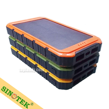 SINOTEK 10000mah mobile phone solar power bank charger for iphone5