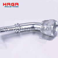 45 Degree SAE Flange 3000 PSI Hydraulic Hose Fitting