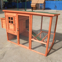 Large cheap price wooden chicken house designs with tray
