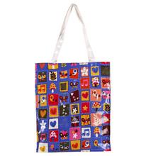 Elegant Animal Design Wholesale Crossbody canvas rope handle beach bag