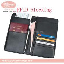 2016 high quality RFID blocking travel wallet
