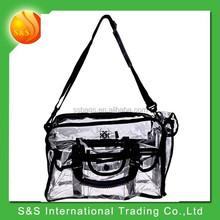 transparent pvc waterproof messenger bag