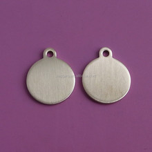 blank round brass pet id tag /trendy pet id tag for dogs and cats